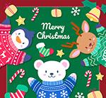动物圣诞贺卡