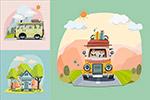 旅行车插画