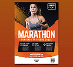 女子马拉松赛传单