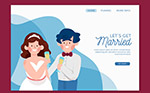 婚礼网站登陆界面