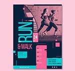 跑步健身女子传单