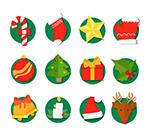 彩色圣诞节图标