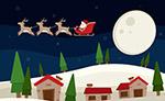 雪夜上空圣诞老人