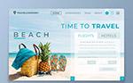 沙滩旅行网站登陆页