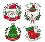 彩绘圣诞节标签