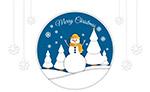 圣诞节雪人剪贴画