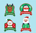 圣诞节微笑角色标签