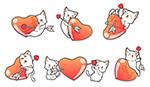 卡通爱心猫咪