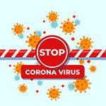 阻止冠状病毒警示牌