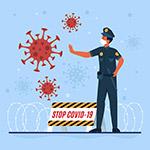 制止病毒的警察