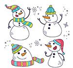 卡通笑脸雪人