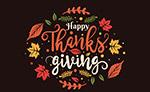 感恩节艺术字
