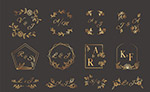 金色婚礼艺术字