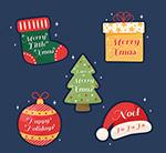 圣诞元素祝福标签