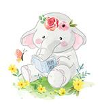 读童话书的大象