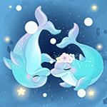 蓝色海豚情侣