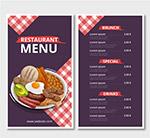 彩绘餐馆菜单