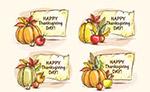 感恩节南瓜标签