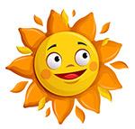 卡通大眼睛太阳