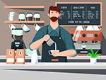 咖啡馆咖啡师