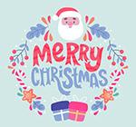 圣诞老人装饰艺术字