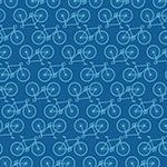蓝色单车无缝背景