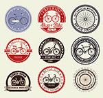 自行车元素标签