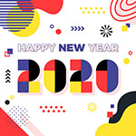 拼色新年艺术字