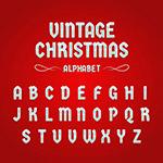 复古圣诞节字母