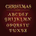 圣诞节字母矢量