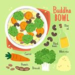 蔬菜汤矢量插画