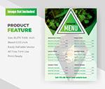 食品菜单传单