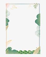国潮海报边框