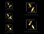金色双字母标志