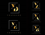 金色双字母标志2