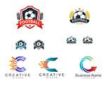 足球与箭头标志