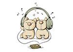 戴耳机的猫咪
