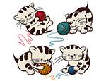 可爱猫咪与毛线
