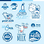牛奶logo设计矢量