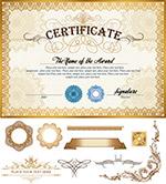 华丽认证证书模板3