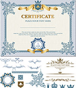 华丽认证证书模板
