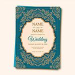 印度风婚礼请柬模板