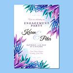 植物装饰婚礼邀请函