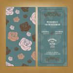 玫瑰花背景婚礼邀请卡
