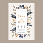 素雅花卉装饰婚礼邀请