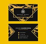 金色抽象花纹装饰名片