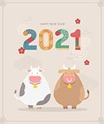 2021牛年卡通海报
