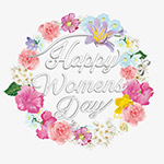 妇女节快乐花环