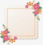 邮票式花卉边框