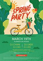 抽象春季派对传单